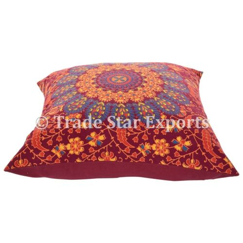 Wholesale Lot of 25 Pc Mandala Cushion Covers 18x18 Decorative Sofa Couch Pillow