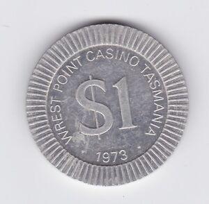 1973 $1 Wrest Point Casino Tasmania Australia Token G-53