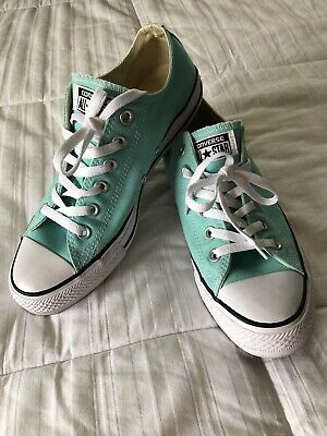 Solid Teal Color Converse Tennis Shoes
