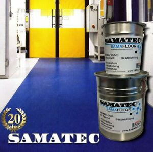 Epoxy-Floor-Coating-10kg-50m-Samafloor-BS98W-Industrie-Boden