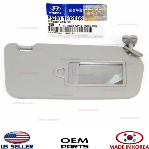 SIDE GRAY GENUINE!! HYUNDAI ACCENT 2006-2011 852201E020QS SUN VISOR RIGHT PASS