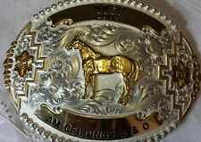 NWSC  Horse Show Belt BUCKLE,  MONTANA SILVERSMITHS NUMBERED