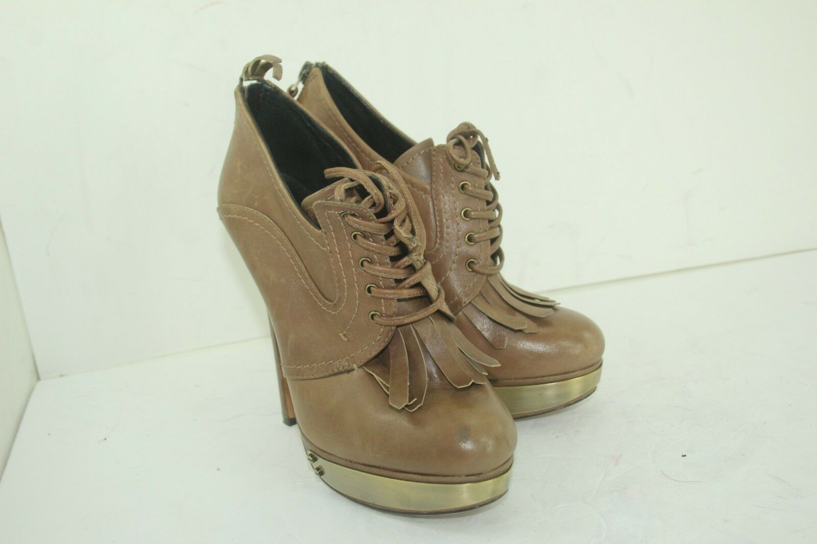 HH HOUSE OF HARLOW BOOTIES SIZE 37 US SIZE 7 BROWN IN GREAT CONDITION