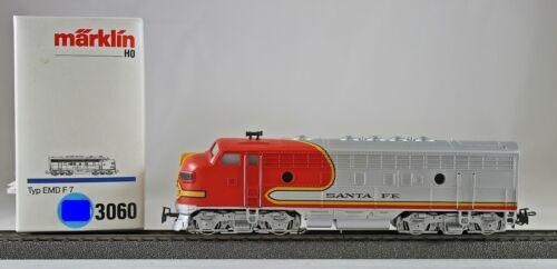 Märklin 3060 Diesellokomotive Typ EMD F 7 SANTA FE aus Sammlung mit OVP A