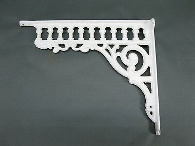 Regal Konsole Wandkonsole Regalträger Haken Gusseisen  27 cm x 23 cm Winkel weiß