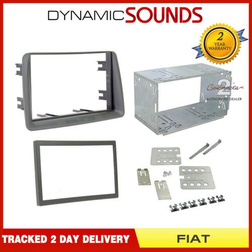 CT23FT03 Car Stereo Double Din Fascia Panel Fitting Kit For FIAT Panda 2003-2012