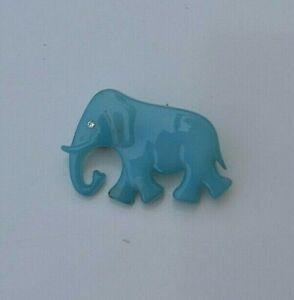 Brooch Jewellery WOODEN ***BLUE ELEPHANT***