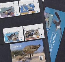 South Georgia & Sandwich Islands 2012 Mint MNH/MLH WWF Birds Penguins Skua Tern
