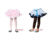 Childrens Petticoat Fluffy Tulle Layered Crinoline Kids Dancewear Dress-up Os