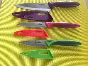 Orig Zyliss Messer Set 3 Tlg Mit Klingen Schutz Neu Brotzeitmesser