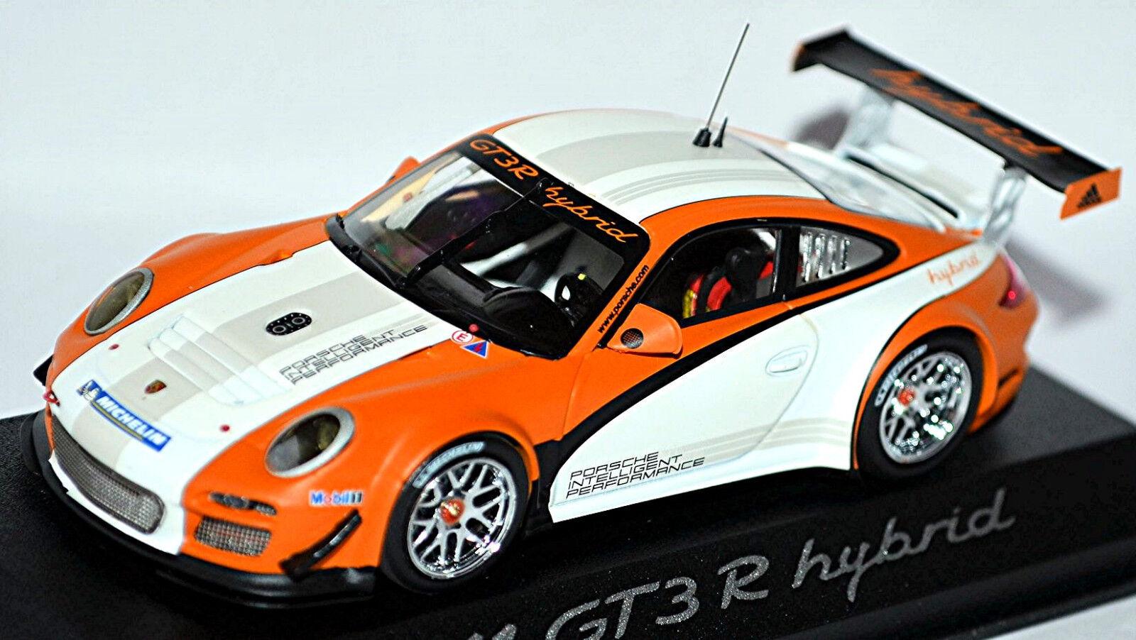 Porsche 911 GT3 R Híbrido Tipo  997 II 2010 blancoo blancoo 1 43 Minichamps