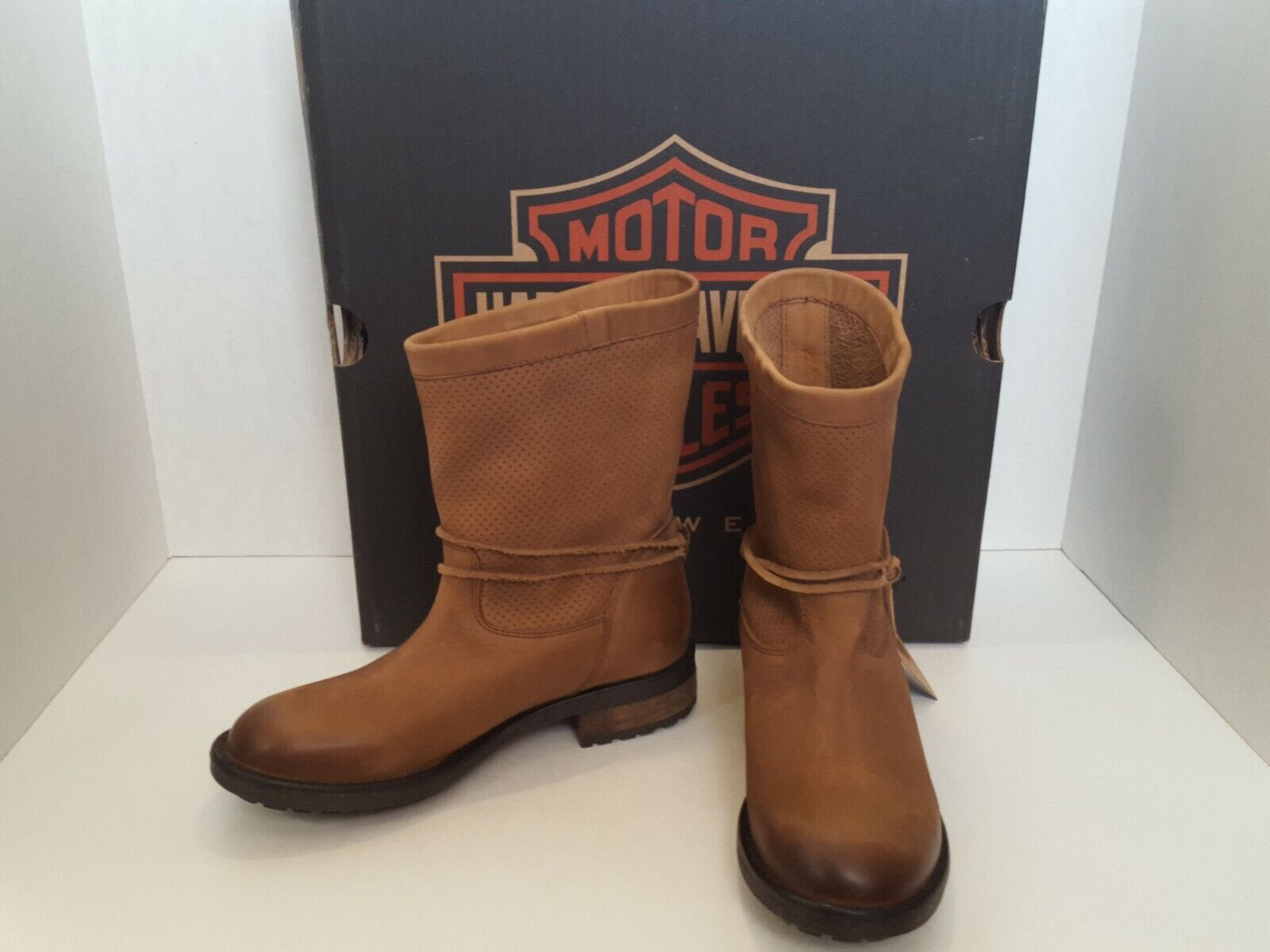 Harley Davidson Womens Sicilia tan boots size 6 new with tags motorcycle riding