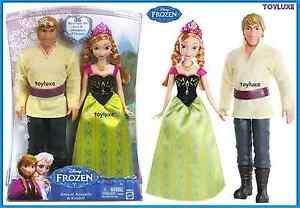Disney-Frozen-Anna-or-Arendelle-amp-Kristoff-2-Doll-Classic-Love-Bundle-Pk-Set-12-034
