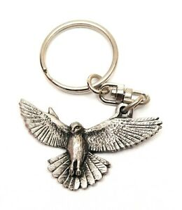 Goldfinch Bird KeyRing Hand Crafted Pewter Key Ring in pouch Gift
