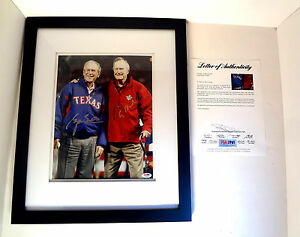 President-George-W-Bush-amp-George-HW-Bush-Dual-Signed-Autograph-Photo-PSA-DNA-COA