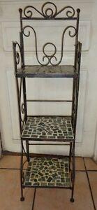 étagère en fer forgé et pastilles de céramique | eBay