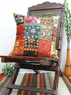 Kutch Embroidered Patchwork Pillow Cover Home Decorative Throw Pillow Case