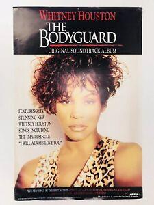 Original-Arista-Whitney-Houston-The-Bodyguard-Soundtrack-Poster-36-034-x-24-034-1992