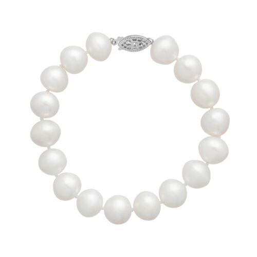 11 mm Freshwater Pearl Bracelet in Sterling Silver