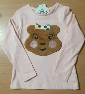 New-Girls-Pink-Blush-Fluffy-Top-Long-Sleeve-Children-In-Need-BBC-5-6-Years