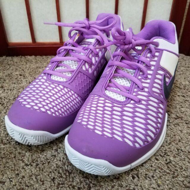 Nike Zoom Breathe 2k10 Women's 386480 500 Whiteblackpurple Trainer Shoes Sz 10