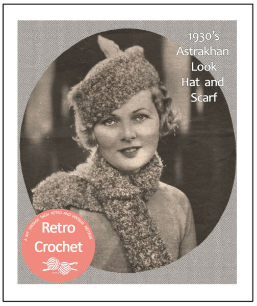 14dfe59ea3920 1930s Cossack Hat and Scarf Crochet Pattern - Copy