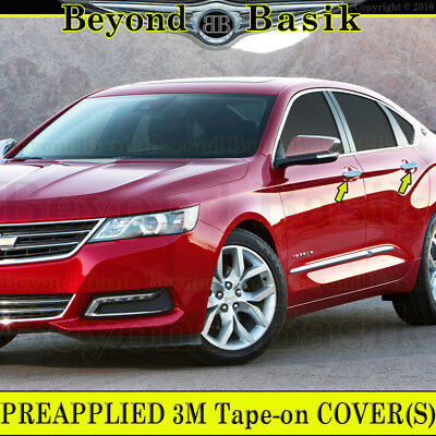 For CHEVY Impala 2014 2015 2016 2017 Chrome 4 Door Handle Covers WITHOUT Smart