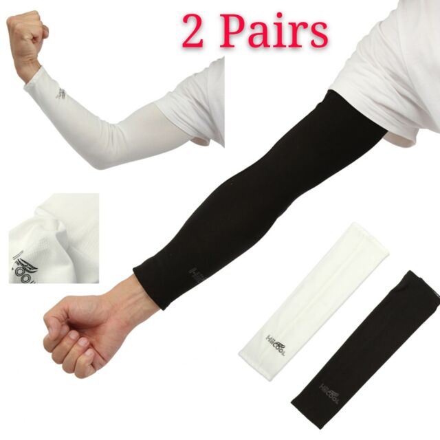 1 pair Sports Running Cycling Elbow Arm Sleeves Covers Sun UV Protection Men