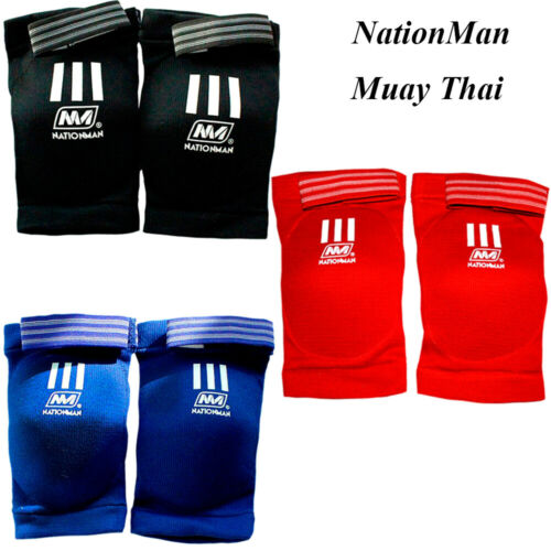 NATIONMAN MUAY THAI ELBOW PADS GUARDS SLEEVES GUARD PAD COMPETITION MMA SLEEVE