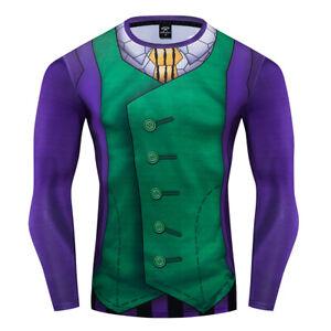 DC Superhero Aquaman Costume Cosplay Compression Tights Quick-Drying T-shirt