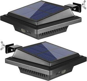 12LEDs Solarleuchte Solarlampe Solarstrahler Dachrinnen Außenlampe Leuchte 4STK