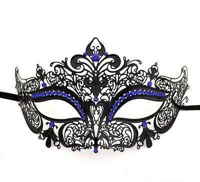 Halbschuhe Metall filigran maskenball-maske Maskenball Laser Cut verziert blau