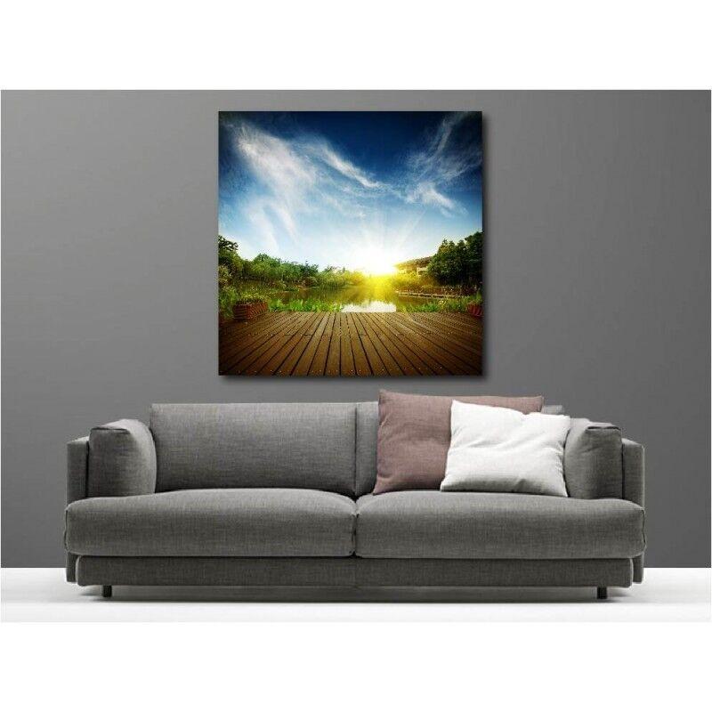 Gemälde Stoff Quadratisch Liegend Sonnen- 78658774