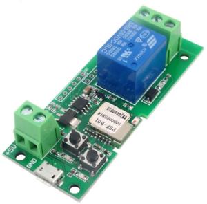 MHCOZY Updated WiFi Wireless Smart Switch Inching Self-locking Relay Module,Set