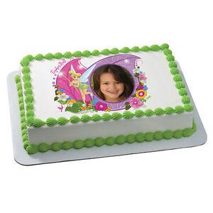 ... Fairies Tinker Bell Birthday ~ Edible Photo Frame Cake Topper ~ D6103