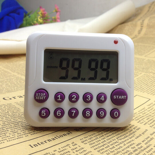 Timer Digital Large LCD Kitchen Cooking Count Down Up Clock 99 Minute Alarm New