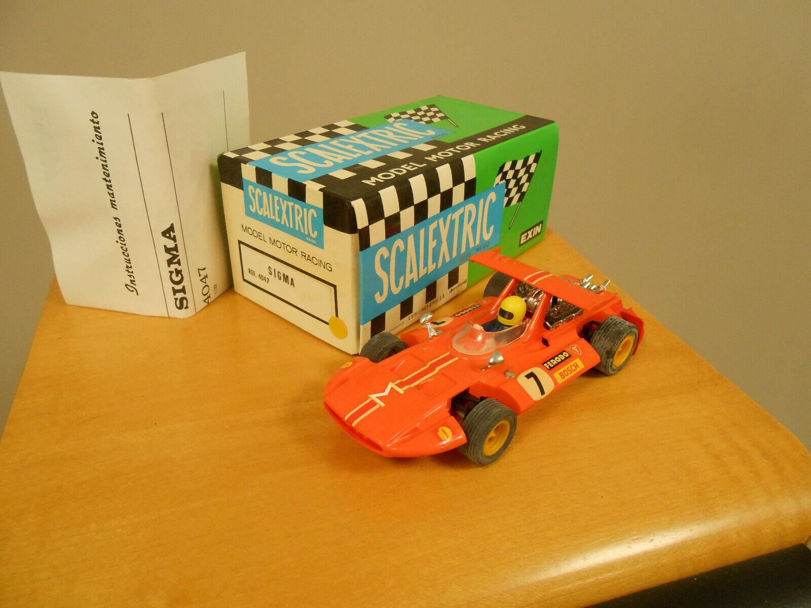 Scalextric Vintage SIGMA  Ref 4047.orange . Unused From new Box & Instructions