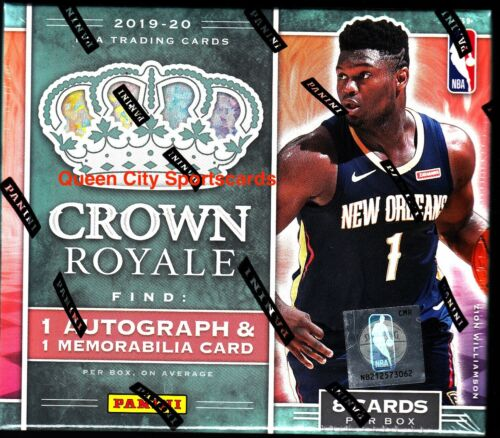 2019//20 Panini Crown Royale Basketball Factory Sealed Hobby Box