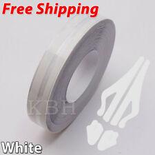 "White 12mm x 9.8m Double Pin Striping Stripe Vinyl Tape Decal Sticker Car 1/2"""