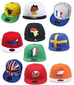 Country-Flag-Snapback-Baseball-Caps-Germany-UK-Sweden-France-Ireland-etc