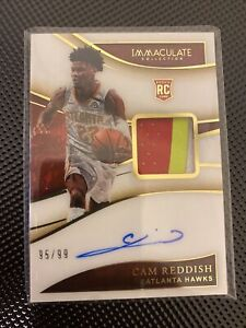 2019 Panini Immaculate RPA #101 Cam Reddish 95/99 3C Patch Jersey Auto RC Rookie