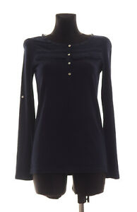Massimo-Dutti-Women-039-s-Blue-long-sleeved-Top-Blouse-Size-S