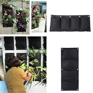 4 taschen wand vertikale begr nung h ngende garten. Black Bedroom Furniture Sets. Home Design Ideas