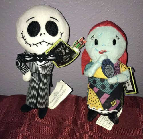 The Nightmare Before Christmas Jack /& Sally Plush Dolls New Tag