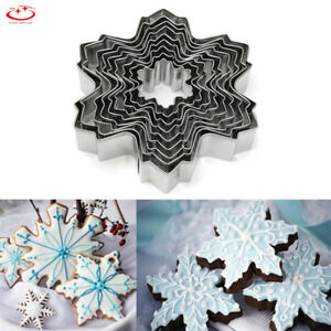 9pcs-Christmas-Snowflake-Biscuit-Cookie-Cutter-Cake-Decor-Baking-Mold-Mould-Tool