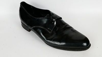 Austin Reed Mens 9 5 Med Oxford Formal Shoes Black Shiney Black Tie Cuban Dress Ebay