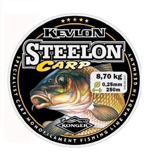 Angelschnur KONGER STEELON CARP 0,22-0,40mm//250m Feeder Karpfenschnur Monofile