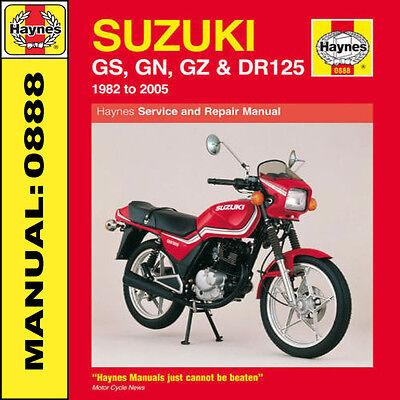 Suzuki GS125 GN125 GZ125 & DR125 Singles 1982-2005 Haynes Manual 0888 NEW