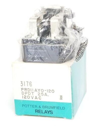 PRD11AY0120 3176 50//60HZ NIB AMF POTTER /& BRUMFIELD PRD11AY0-120 RELAY 120V