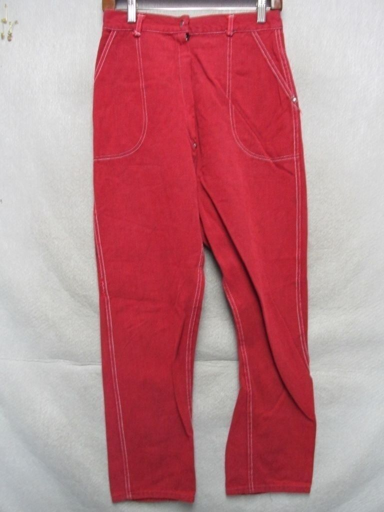 D7277 Double D Red Vintage 60's Credch Rivet Jeans Women's 28x27